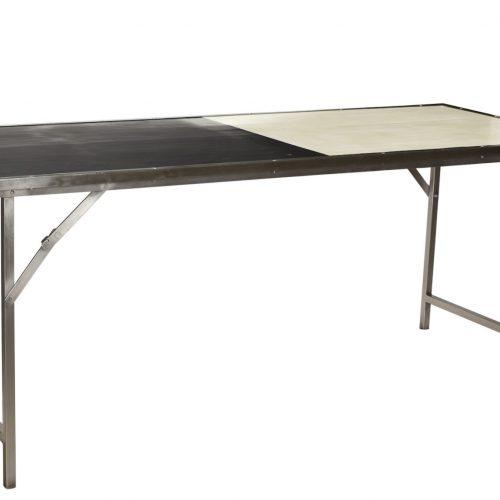 Table pliante design métal et bois