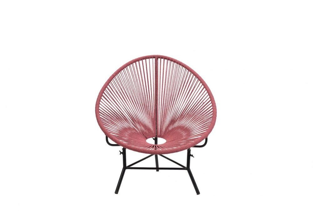 Fauteuil corde rouge Acapulco