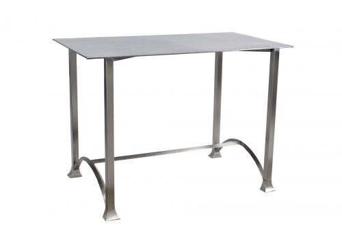 Table semi-haute inox