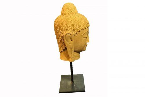 Profil d'une sculpture de bouddha