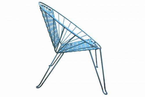 Profil d'une chaise Acapulco blue