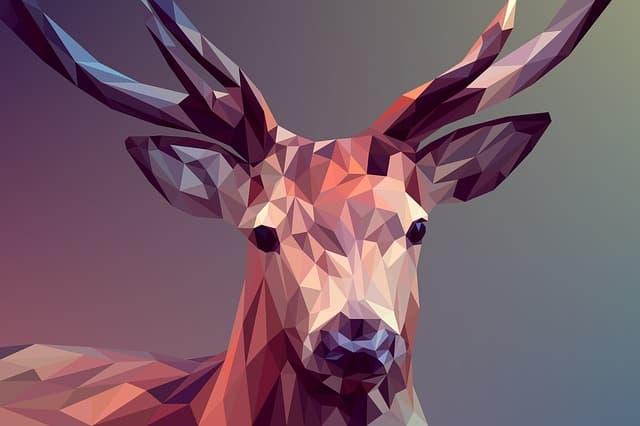 décoration murale : La tête de cerf en 3D