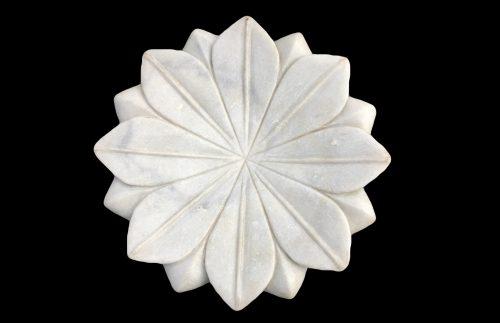 Vide-poche ou coupe en marbre blanc