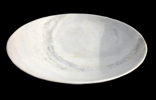 Coupe à fruits en marbre blanc