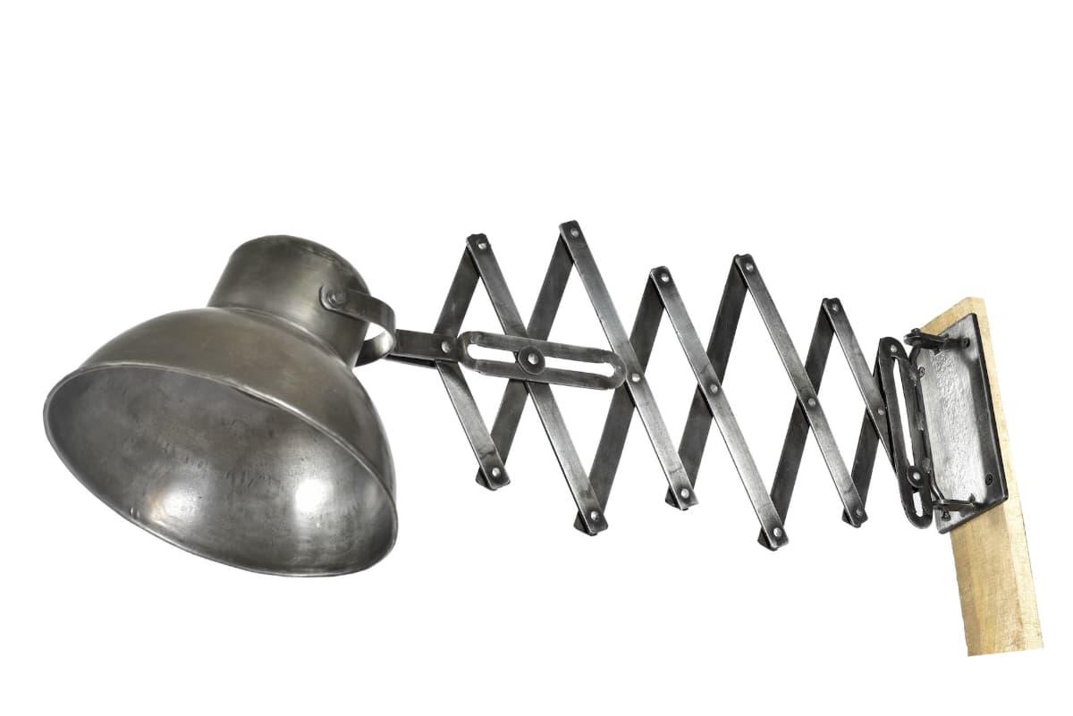 Lampe accordéon métal style industriel