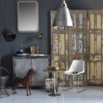 Appartement décorée avec mobilier industriel